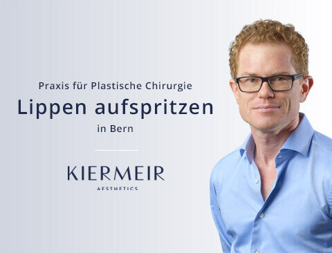 Lippen aufspritzen in Bern - Dr. David Kiermeir